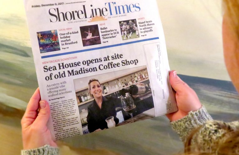 ShoreLines Times feature story on the Sea House Madison restaurant