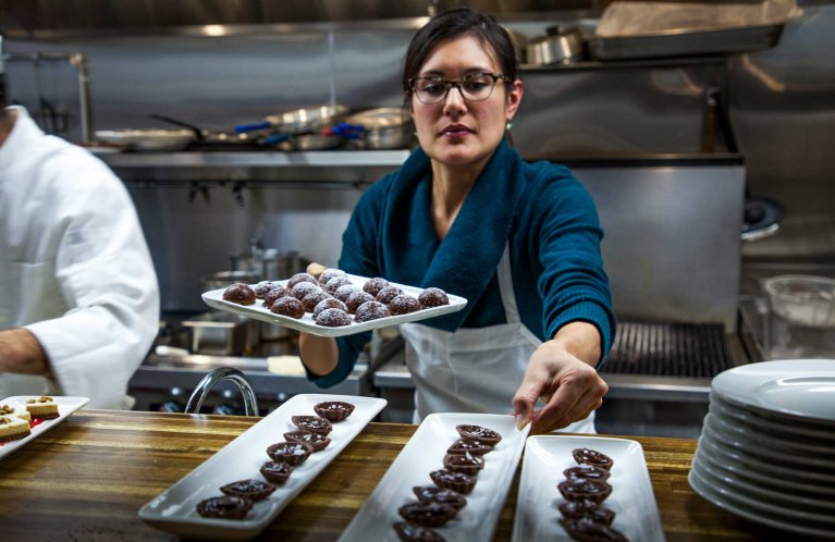 Sea House pastry chef Angela Salvatore prepares daily handmade desserts